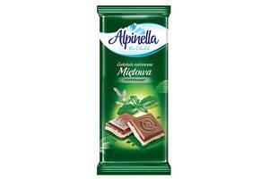 Шоколад Alpinella Молочный с мятой 90г
