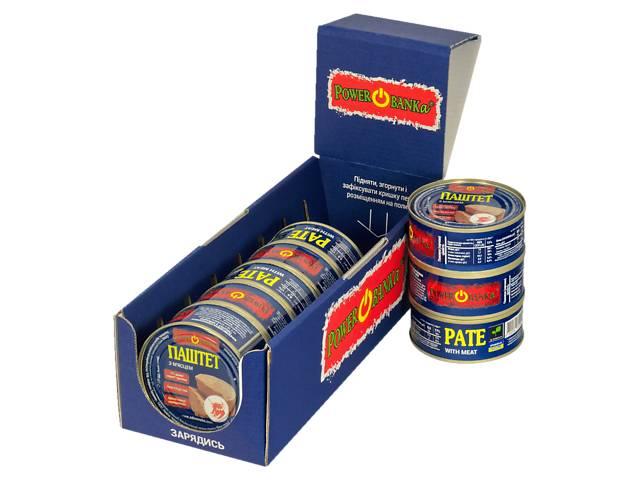 продам Упаковка паштетов с мяском PowerBANKa 8 шт х 100 г (46110541) бу в Киеве