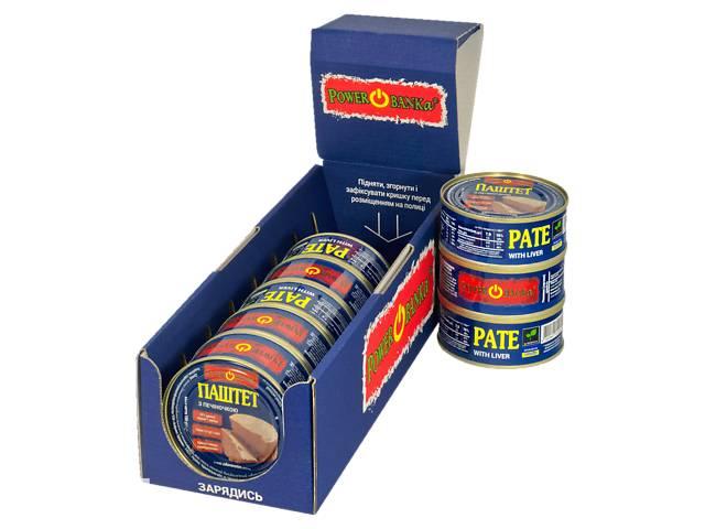 продам Упаковка паштетов с печенью PowerBANKa 8 шт х 100 г (46110619) бу в Киеве
