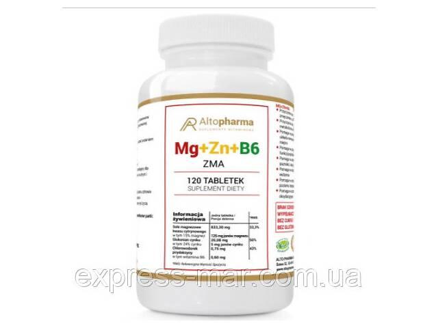 купить бу Витамины Altopharma магний + цинк + B6 ZMA МЕГА ДОЗА - 120 табл в Харькове