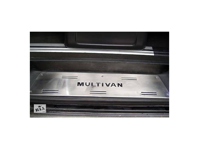 бу Накладки на внутренние пороги (OmsaLine, нерж) 3 двери, OmsaLine - Итальянская нержавейка для Volkswagen T5 в Черновцах