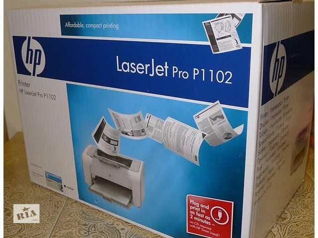 купить бу Принтер лазерный HP LaserJet Pro P1102 в Киеве