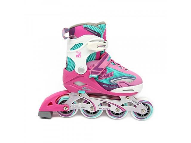 e6c075e67e504b Розсувні роликові ковзани (Ролики) Maraton C-MAX, рожева, Розмір: M ...