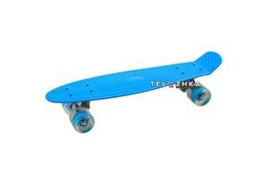"""Скейт пенни борд SkateX Penny MultiColor голубой 22"""""""