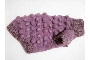 З люрексом і шишечками бузковий светр для собак, кішок