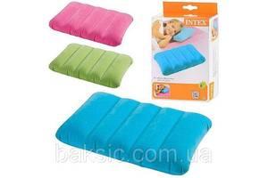 Надувная подушка Intex 68676 (28х43х9см), три цвета