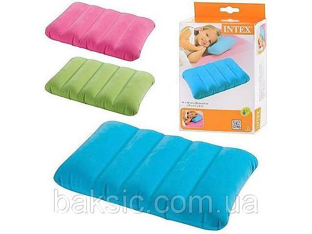 бу Надувная подушка Intex 68676 (28х43х9см), три цвета в Харкові