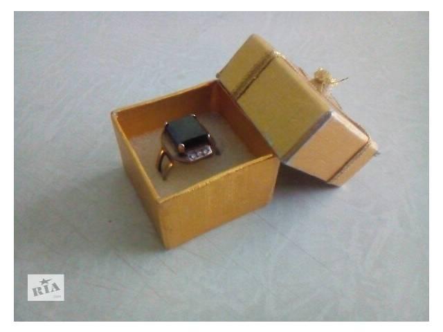 купить бу Серебряное кольцо с камнем фианит(мужское) в Львове