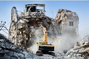 Демонтаж и демонтажные работы, механизированный демонтаж экскаваторами, снос зданий и сооружений, демонтаж бетона