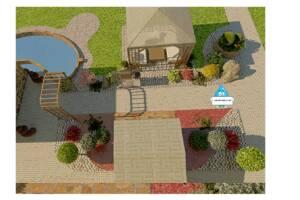 Ландшафтний дизайн території, автополив, рулонний та посівний газон - ландшафтні роботи під ключ!
