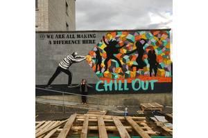 Графіті , мурал, графити, художній розпис стін. Малюнок на стіні