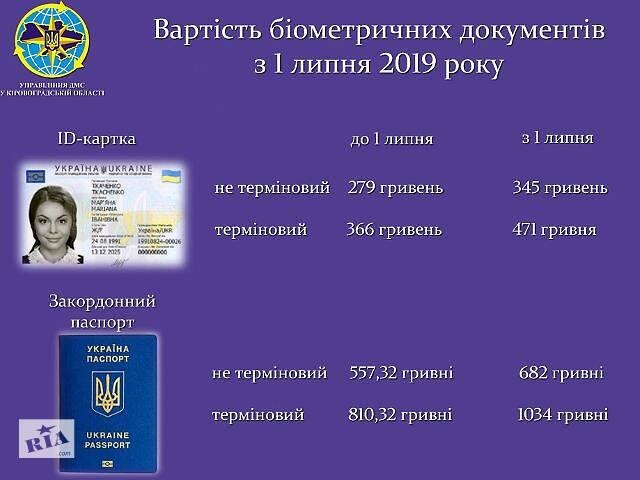 Срочно биометрический заграничный паспорт, ID карта, паспорт Украины новый.- объявление о продаже   в Украине