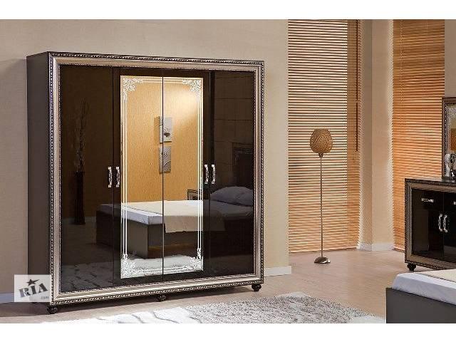 Шкаф 4-дверный Embawood Элизабет (черный) |AM5991- объявление о продаже  в Киеве