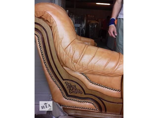 продам Кожаный комплект мебели на дубе,мебель из Германии бу в Дрогобыче