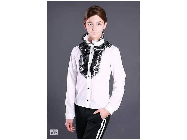 Школьная блузка с длинным рукавом  р-р 122,128,134,140,146,152,158,164 164- объявление о продаже  в Киеве