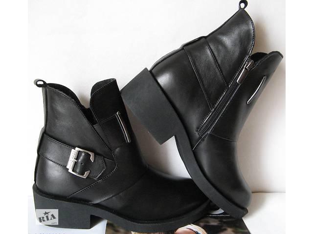 bdc4ecda1 Зима! Женские удобные ботинки кожаные черные сапоги Дизель мех- объявление  о продаже