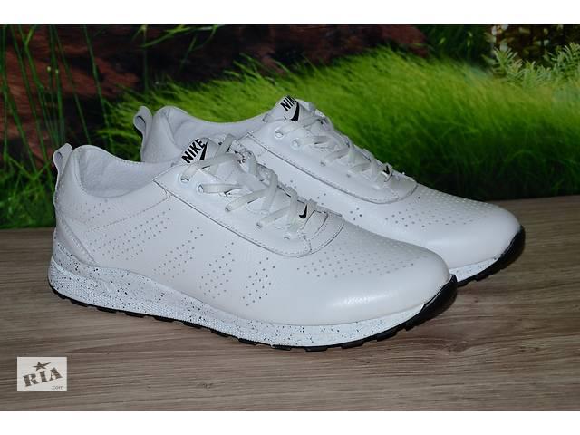 продам Кроссовки белые натуральная кожа М46 в стиле Nike размеры 36 37 38 39 40 41 бу в Киеве
