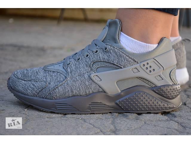 продам Кроссовки женские Nike air Huarache ultra grey найк хуарачи серые бу в Южноукраинске