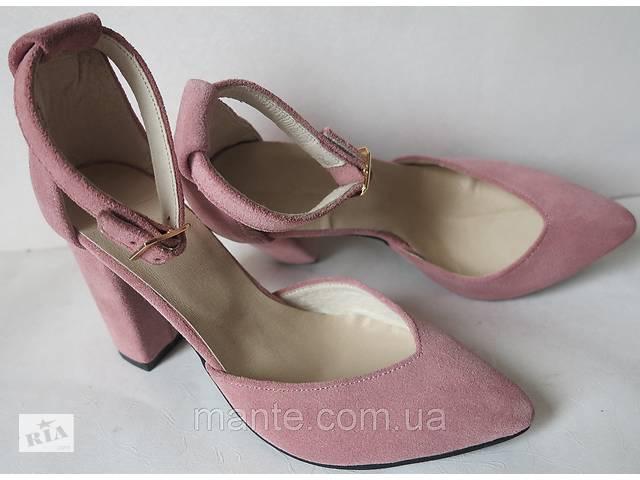 92ad1817 Красивые женские босоножки в замше пудрового цвета туфли каблук 10 см весна