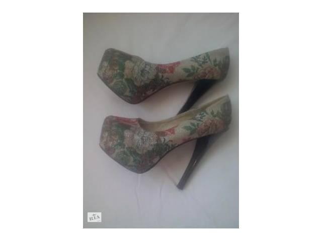 Модние туфли с цветочним принтом - Женская обувь в Ровно на RIA.com 7c4b3569ed8ae