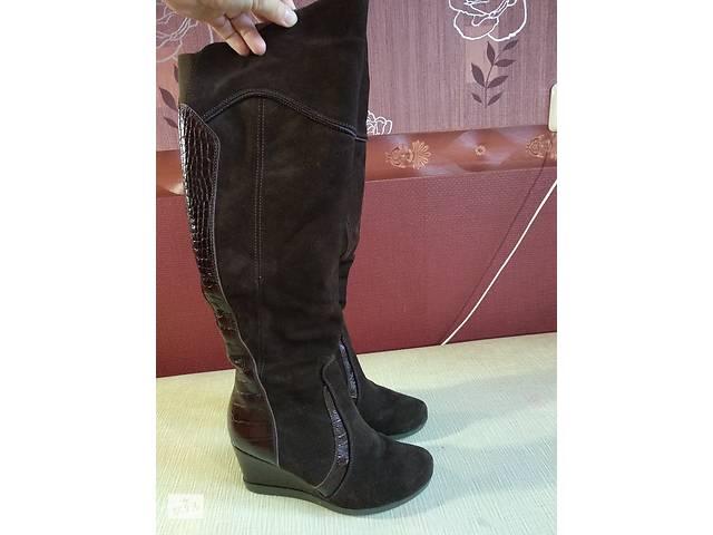 09694b698144fd Женские сапоги зимние замша, кожа коричневые- объявление о продаже в Харкові
