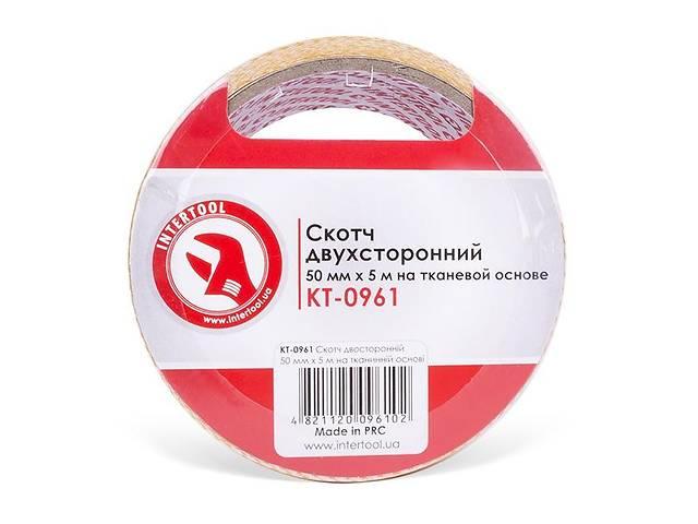 Скотч двухсторонний 50 мм*5 м на тканевой основе INTERTOOL KT-0961- объявление о продаже  в Ивано-Франковске