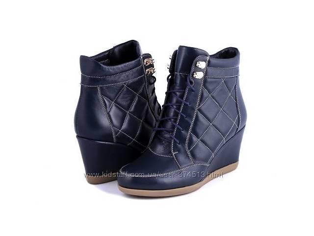 Сникерсы женские TM Mariani (Ботинки танкетка) р.36 темно-синие- объявление о продаже  в Черкассах
