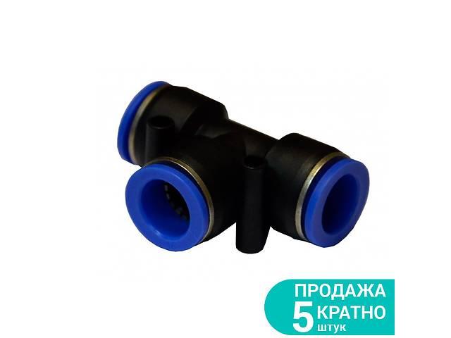 Соединение цанговое (T-образное) Ø10*10*6мм Sigma 7026331