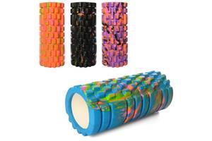 Массажер валик, ролик массажный для спины и йоги MS 0857-1 (4 цвета)