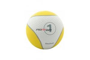 Медицинский мяч 1 кг, желтый, Reebok RE-21121