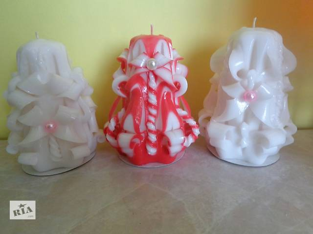 бу Свадебные резные свечи в Токмаке