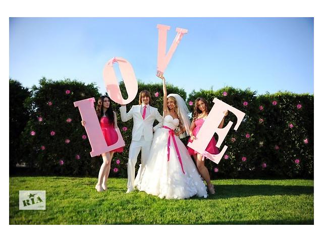 купить бу Свадебный декор, свадебные арки, объемные буквы, рамки, гербы, сердечки в Киеве