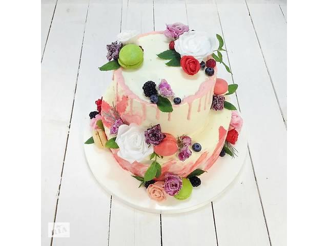 Свадебный торт на заказ! Свежие продукты, короткие сроки!- объявление о продаже  в Киеве