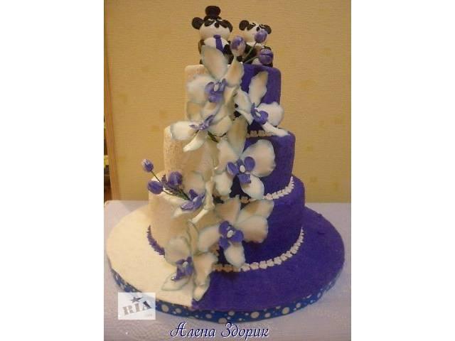 бу Свадебный торт с пандами и орхидеями  в Киеве