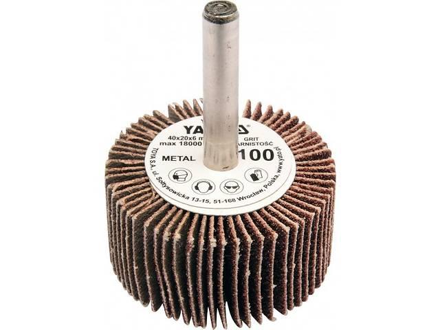купить бу YATO Круг  Ø= 40 мм з наждачних пелюстків К150, з захватом до дрилі, 20х6 мм в Ивано-Франковске