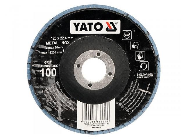 купить бу YATO Круг з наждачних пелюстків випуклий ZIRCONIIA ALUMINIUM OXIDE INOX К 40, Ø= 125/22,4 мм(DW) в Ивано-Франковске
