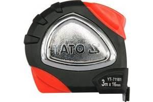 YАТО Рулетка зі стальною стрічкою з нейлон. покриттям , b= 16 мм, l= 3 м