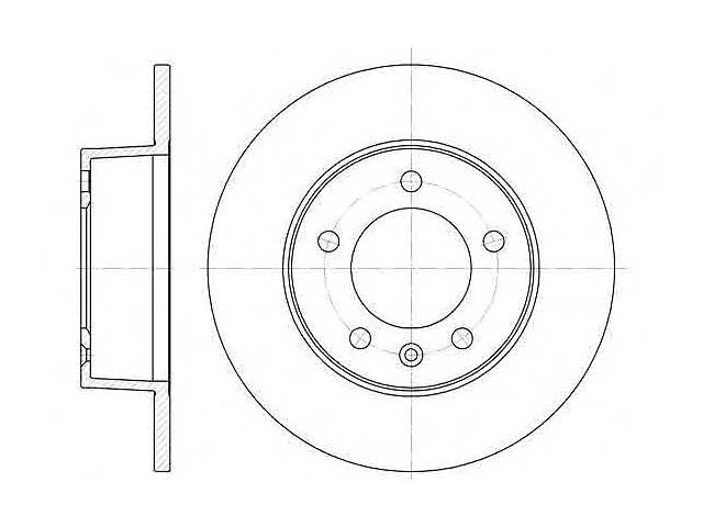 продам  Тормозной диск задний для автобуса RENAULT MASTER (II) /OPEL MOVANO 98-(305X12MM) бу в Черновцах