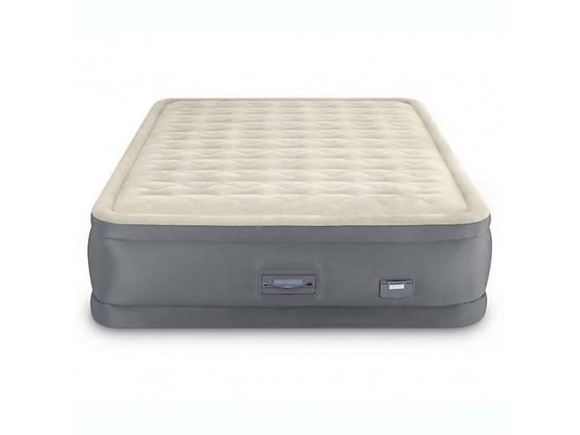 Надувная велюр-кровать Intex 64926 152х203х46 см встроенный электронасос- объявление о продаже  в Одессе
