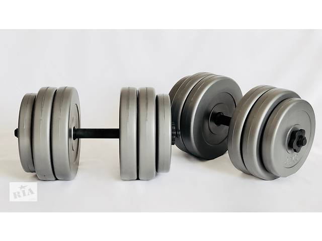 купить бу Гантелі набірні Plenergy Grey 2х25 кг в Києві