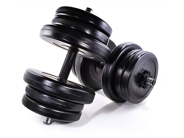 купить бу Комплект гантелей NEO-SPORT - 2 шт по 21 кг разборных со сменными дисками в Киеве