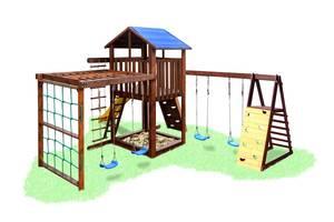 Уличная площадка Babygrai -3 + 2  люкс