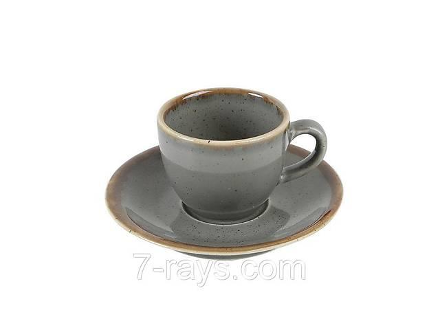 Блюдце 12 см. (под чашку 213-312109.DG) фарфоровое, темно-серое Seasons Dark Gray, Porland- объявление о продаже  в Дубно (Ровенской обл.)