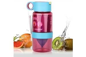 Бутылка для воды 450 мл с поилкой для самодельного лимонада 2 цвета Kidzinger