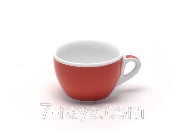 купить бу Чашка 260 мл. фарфоровая, белая с красной полоской cappuccino Verona Millecolori, Ancap в Дубно