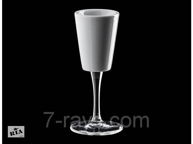 продам Чашка 65 мл. фарфоровая на стеклянной ножке, белая espresso Degustazione Cafluttino, Ancap бу в Дубно (Ровенской обл.)