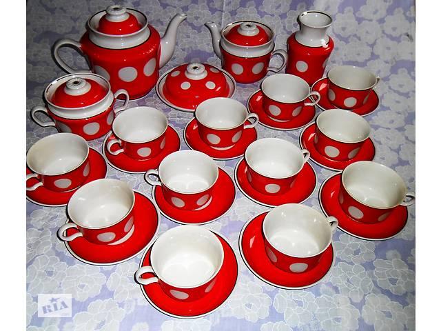 продам Чайно-Кофейный набор, сервиз в белый Горох на 12 персон бу в Мукачево