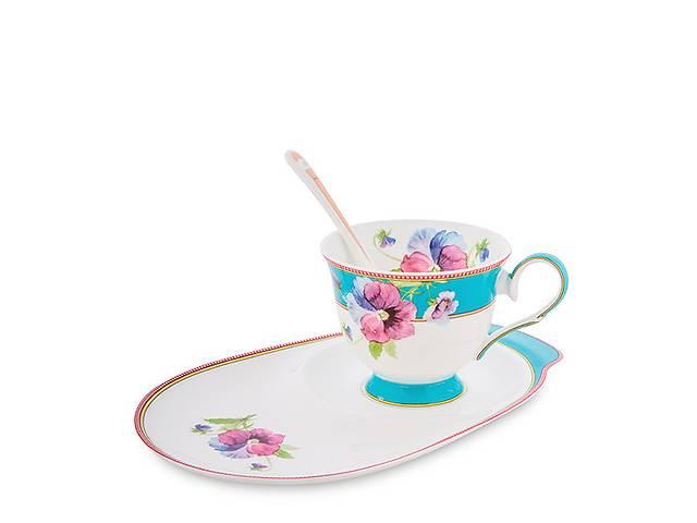 купить бу Чайный набор Pavone Фиалки 3 предмета 1451496 в Одесі