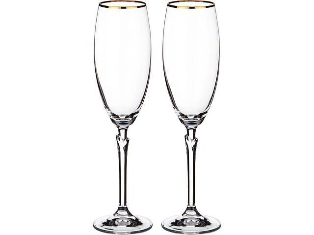 купить бу Набор бокалов для шампанского Bohemia Celebration (Lilly) 220 мл 2 пр (20787) b40768-20787 в Чернигове