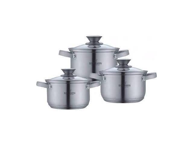купить бу Набор кухонной посуды из нержавеющей стали 6 предметов Bohmann BH-0516 в Києві